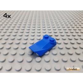 LEGO® 4Stk Platte 2x3x2/3 modifiziert / Schrägstein blau 47456