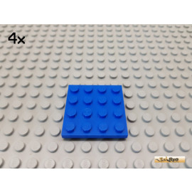 LEGO® 4Stk Platte Basic 4x4 blau 3031