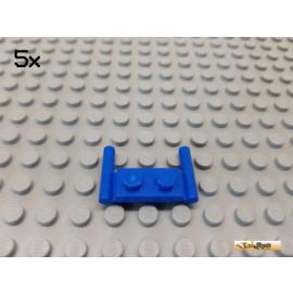 LEGO® 5Stk Platte 1x2 modifiziert mit 2 Griffen blau 3839