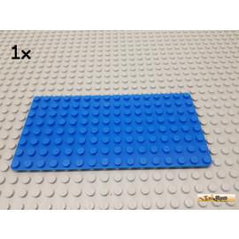 LEGO® 1Stk Grundplatte / Platte 8x16 blau 3865