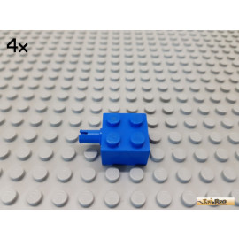 LEGO® 4Stk Stein 2x2 mit Pin blau 4730