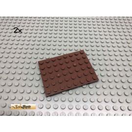 LEGO® 2Stk 6x8 Platte Bauplatte Brick Rotbraun, Reddish Brown 3036 49