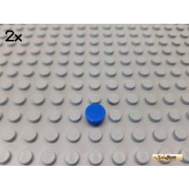 LEGO® 2Stk Fliese / Kachel 1x1 rund blau 98138