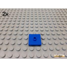 LEGO® 2Stk Platte / Fliese mit 1 Noppe 2x2 blau 23893
