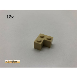 LEGO® 10Stk 2x2x1Eck Baustein Basic Brick Beige, Tan 2357 z