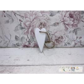 Deko Herz zum hängen Weiß Holz Shabby Fensterdeko Vintage