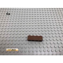 LEGO® 6Stk 1x4 Basic Stein Brick Braun, Brown 3010 71