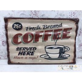 Blechschild gewellt Nostalgisch Kaffee Coffee Vintage