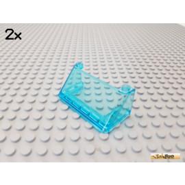 LEGO® 2Stk Scheibe / Windschutzscheibe 2x6x3 transparent blau 92583