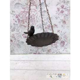 Vogeltränke Futterstation Eisen Vintage Garten Shabby