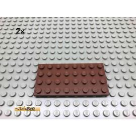 LEGO® 2Stk 4x8 Platte Brick Rotbraun, Reddish Brown 3035 6
