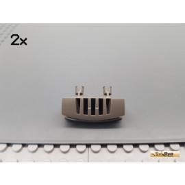 LEGO® 2Stk Kühler / Lüfter / Stoßstange 2 Pins 1x4 alt-dunkelgrau 30622