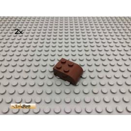 LEGO® 2Stk 2x3 Bausteine abgerundet Rotbraun, Reddish Brown 6215 216