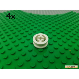 LEGO® 4Stk Felge ohne Reifen weiß 3482