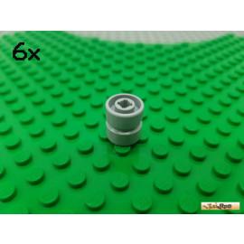 LEGO® 6Stk Felge ohne Reifen hellgrau 6014