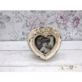 Deko Bilderrahmen Bild zum stellen Shabby Vintage Nostalgisch Herz