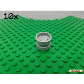 LEGO® 10Stk Felge ohne Reifen hellgrau 30285