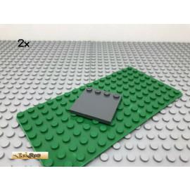 LEGO® 2Stk 4x4 Fliese mit Randnoppen Platte Dunkel Grau, Dark Gray 6179