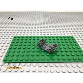 LEGO® 4Stk 2x4 Schrägstein Rumpf Dunkel Grau, Dark Gray 4871