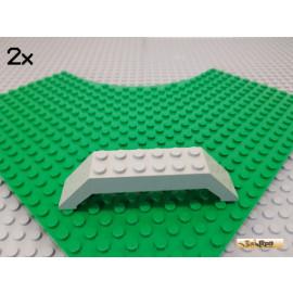 LEGO® 2Stk Schrägstein / Doppel / Brücke 10x2x2 alt-hellgrau 30180