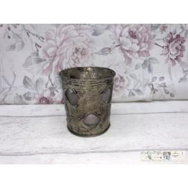 Loberon Teelicht Windlicht Teelichthalter Tischdekoration Shabby Vintage