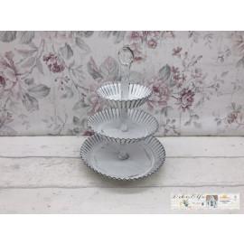 Deko Etagere 3 Etagen Weiß Metall Shabby Vintage