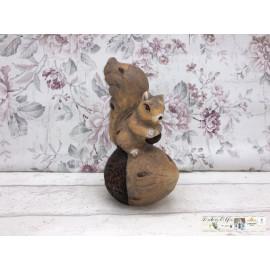 Gilde Eichhörnchen Haselnuss Nuss Deko Figur Keramik Tischdekoration
