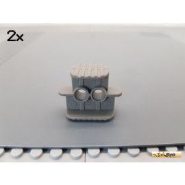 LEGO® 2Stk Technic Gummibandhalter 2x4x2 alt-dunkelgrau 41752