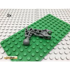 LEGO® 2Stk Bionicle Fuß Arm Grau, Dark Gray 60896