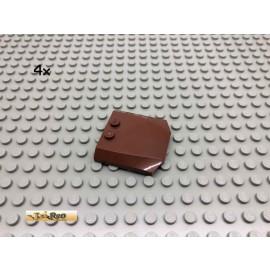 LEGO® 2Stk 4x4 Motorhaube Dach Brick Rotbraun, Reddish Brown 45677 143