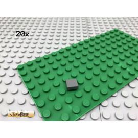 LEGO® 20Stk 1x1 Fliese Platte Plate Dunkel Grau,Dark Gray 3070
