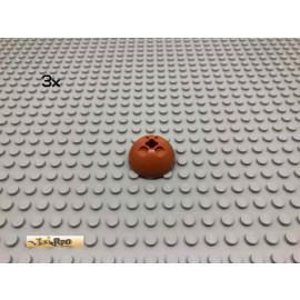 LEGO® 3Stk Hemisphere Dunkelorange, Braun Orange 44359 25