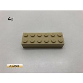 LEGO® 4Stk 2x6x1 Basic Brick Beige, Tan 2456 44237 aq