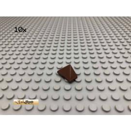 LEGO® 10Stk 1x2 Dachstein Dachfirst Brick Braun, Brown 3048 80