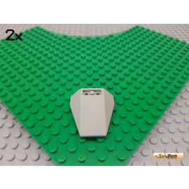 LEGO® 2Stk Flügel / Bug / Rumpf negativ 4x4 alt-hellgrau 4855