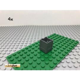 LEGO® 4Stk 2x2 Kasten Container Box Dunkel Grau, Dark Gray 61780