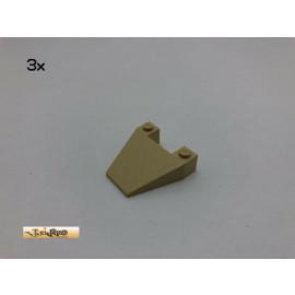 LEGO® 3Stk 4x4  Schräg Keil Stein Brick Beige, Tan 4858 72