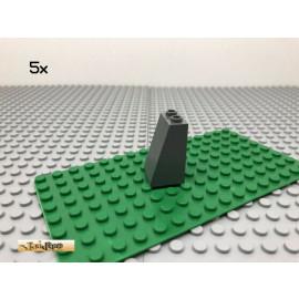 LEGO® 5Stk 2x2 Dachstein Schrägstein glatt Dunkel Grau,Dark Gray 30499