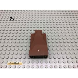 LEGO® 2Stk 2x4x6 Rock Panel Brick Rotbraun, Reddish Brown 47847 127