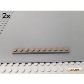 LEGO® 2Stk Platte Basic 1x10 alt-dunkelgrau 4477