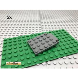 LEGO® 2Stk 4x5 Falltür Klappe Tür Dunkel Grau, Dark Gray 30042