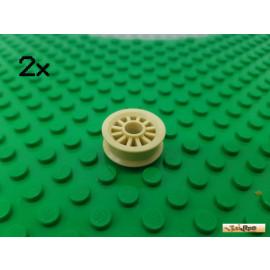 LEGO® 2Stk Felge ohne Reifen tan 30155