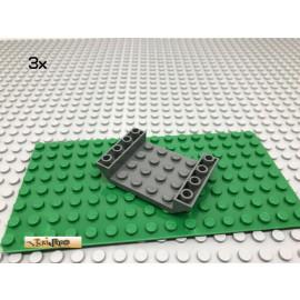 LEGO® 3Stk 6x4 Schrägstein Rumpf Grau, Dark Gray 30283