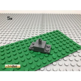 LEGO® 5Stk 2x4 Platte mit Pin Dunkel Grau, Dark Gray 30592