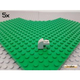 LEGO® 5Stk Bogen / Fenster / Brücke 1x2x1 1/3 alt-hellgrau 6091