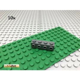 LEGO® 10Stk 1x1 Stein mit einer Noppe seitlich Dunkel Grau,Dark Gray 4070