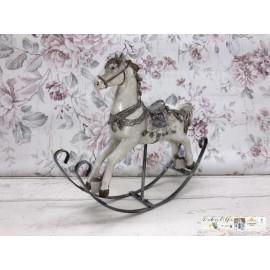 Weihnachtsdekoration Schaukelpferd Pferd Nostalgisch Weihnachtlich Weiß