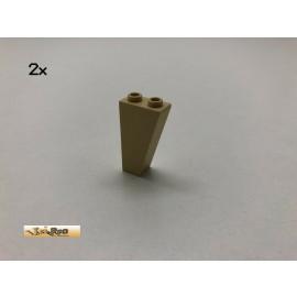 LEGO® 2Stk 2x1x3 75 ° Slope Brick Beige, Tan 2449 ct