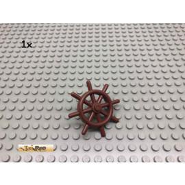 LEGO® 1Stk Steuerrad mit Pin Brick Rotbraun, Reddish Brown 4790 42