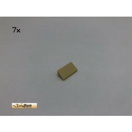 LEGO® 7Stk 1x2 30° Dachsteine Schrägsteine Beige, Tan 85984 134